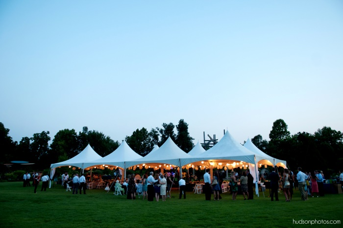 Reception on lawn- hudsonphoto
