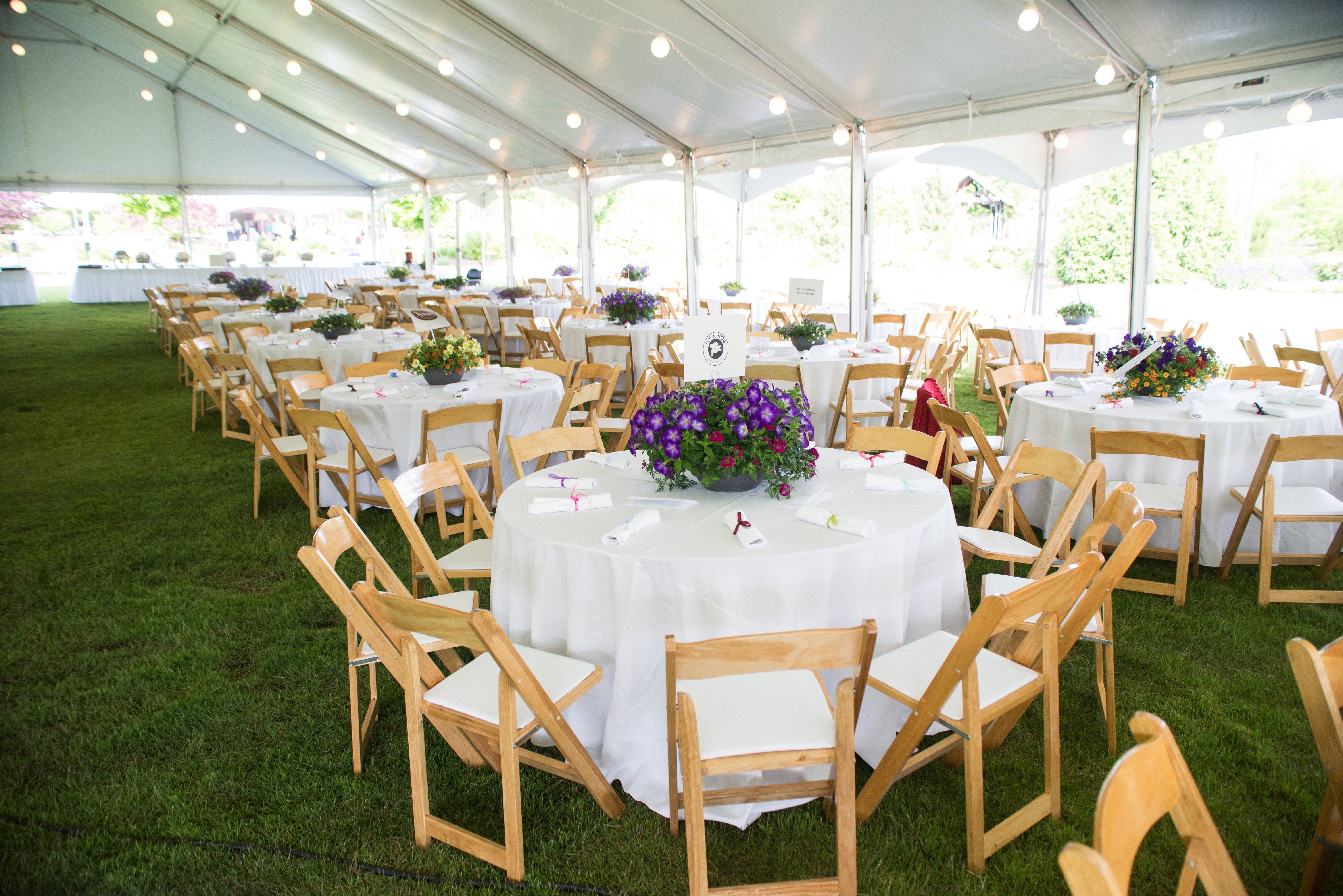 An example of a tented reception on the Great Lawn