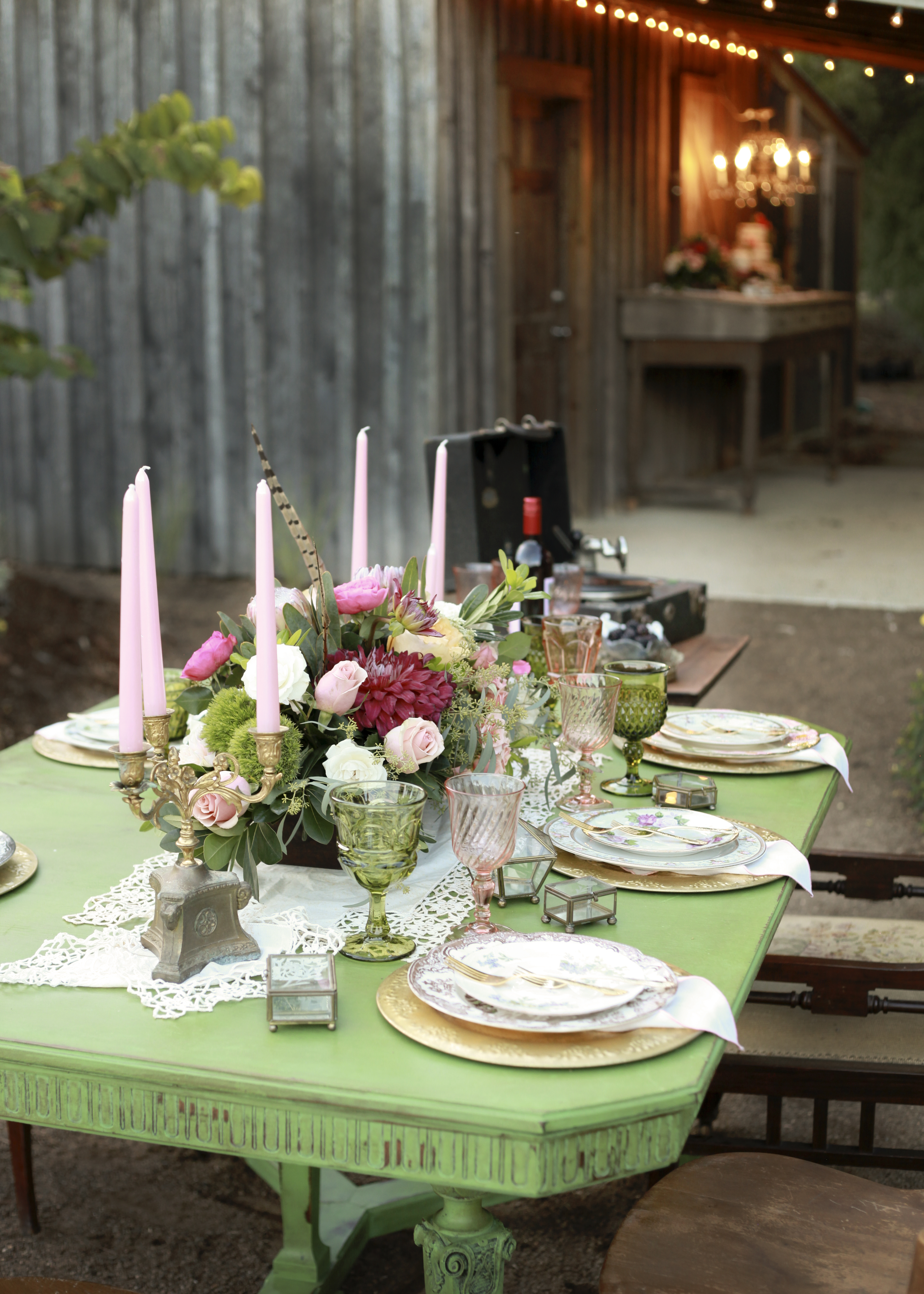 An example of an intimate reception at the education cottage