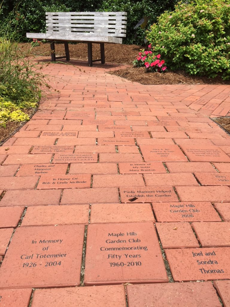 Brick Memorials Botanical Garden Of The Ozarks Maple Place A Memorial In Founders