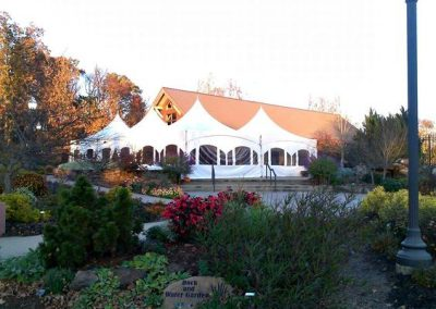Heated tents are available for rent from Intents Party Rentals