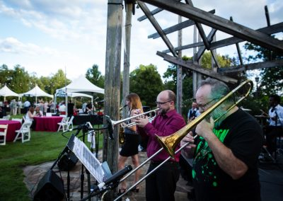 Band playing under the arbor on the Great Lawn