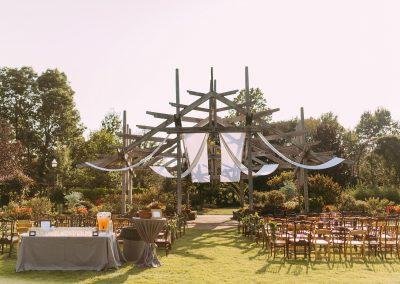 Arbor & Great Lawn wedding ceremony