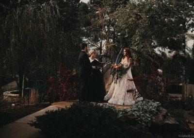 A simple wedding in the Children's Garden