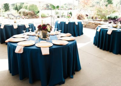 Wedding reception on the terrace