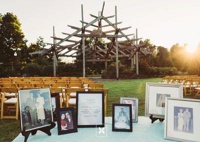 This couple incorporated family into their ceremony with a photo table